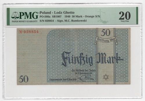 GETTO Łódź - 50 Marek 1940 - PMG 20