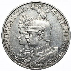 NIEMCY - 2 marki 1901 - 200. lecie Królestwa
