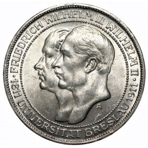 NIEMCY - Królestwo Prus - 3 marki 1911 (A) Berlin