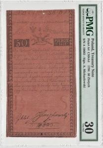50 złotych 1794 - seria A - PMG 30
