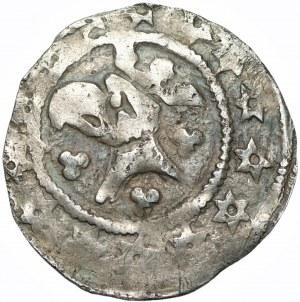Henryk I (III) Głogowski lub Wacław II Czeski - Kwartnik głogowski (1300-1309) RZADKOŚĆ R8