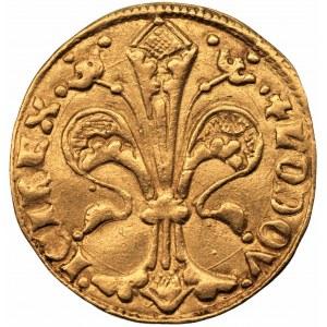 Ludwik Węgierski (1370-1382) Goldgulden Buda