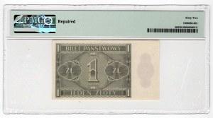 1 złoty 1938 - seria IJ - PMG 62