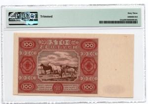 100 złotych 1947 - seria D - PMG 63