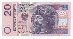 20 złotych 1994 - seria ZA 0007326, seria zastępcza
