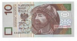 10 złotych 1994 - seria AA 0044637 -