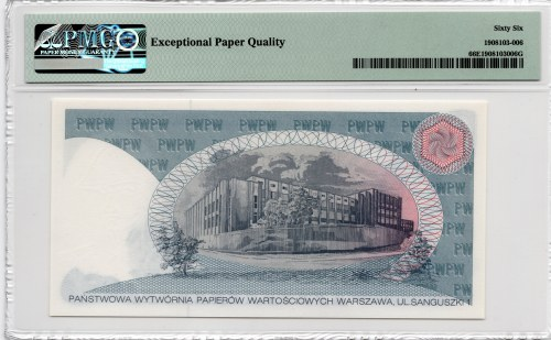 PWPW Piotr Wysocki (1990/1991) - banknot testowy - PMG 66 EPQ