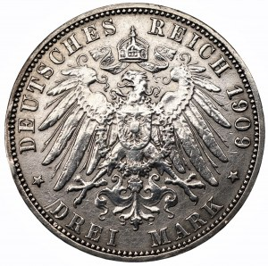 NIEMCY - Prusy - 3 marki 1909 (A)