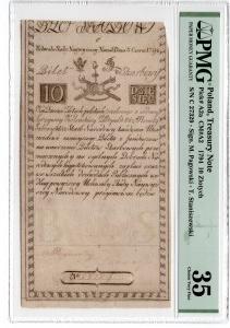 10 złotych 1794 - seria C - PMG 35
