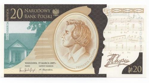 20 złotych 2009 - Fryderyk Chopin