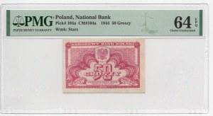 50 groszy 1944 - PMG 64 EPQ