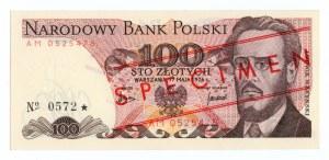 100 złotych 1976 - seria AM - WZÓR/SPECIMEN
