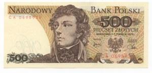 500 złotych 1979 - seria CA
