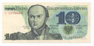10 złotych 1982 - seria C