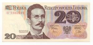 20 złotych 1982 - seria G
