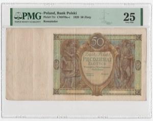 50 złotych 1929 - bez serii i numeracji - PMG 25 RZADKI