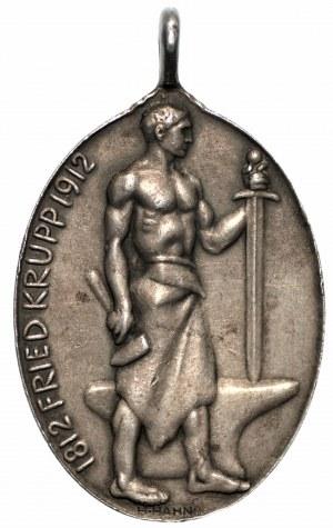 NIEMCY - Medal Alfred Krupp 1812-1912
