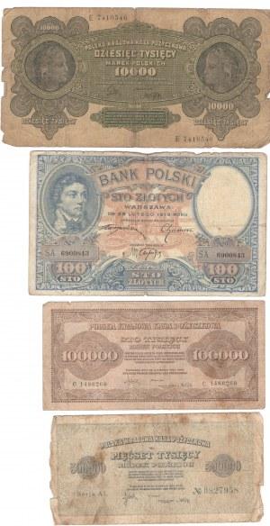 POLSKA - zestaw 75 sztuk banknotów (1919-1948)
