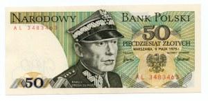 50 złotych 1975 - seria AL
