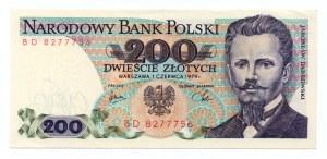 200 złotych 1979 - seria BD