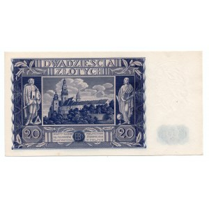 20 złotych 1936 - seria AD