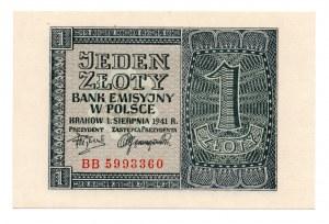 1 złoty 1941 - seria BB