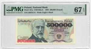 500.000 złotych 1993 - seria L - PMG 67 EPQ