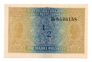 1/2 marki 1916 - Generał - seria B