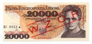 20.000 złotych 1989 - seria A - WZÓR/SPECIMEN