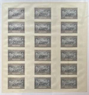 ARKUSZ - 18 banknotów 20 złotych 1940 - bez serii i numeracji