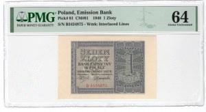 1 złoty 1940 - seria B - PMG 64