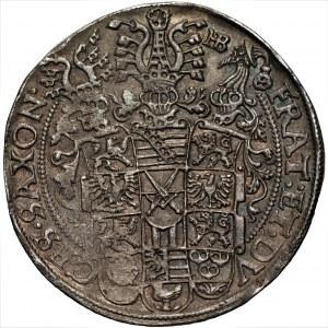 NIEMCY - Saksonia, Krystian, Jan Jerzy, August (1591-1611) - Talar 1598 HB Drezno