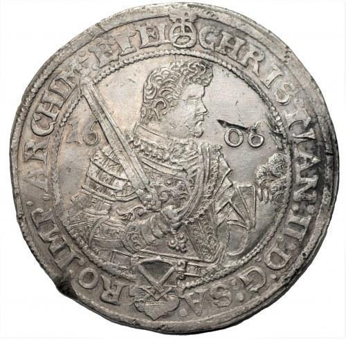NIEMCY - Saksonia - Krystian, Jan Jerzy, August (1591-1611) - Talar 1606