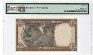 Rodezja - Reserve Bank of Rhodesia - 5 dolarów 1978 - PMG 66 EPQ