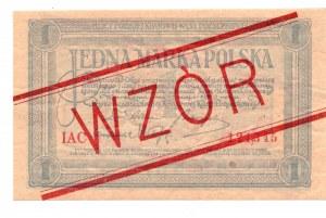 1 marka polska 1919 - seria IAC - RZADKI WZÓR z numeracją bieżącą