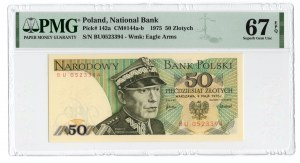 50 złotych 1975 - seria BU - PMG 67 EPQ