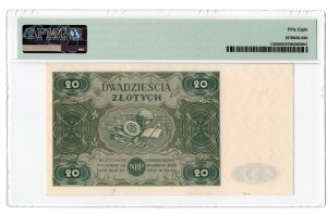 20 złotych 1947 - seria C - PMG 58