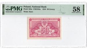 50 groszy 1944 - PMG 58