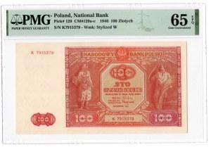 100 złotych 1946 - seria K- PMG 65 EPQ
