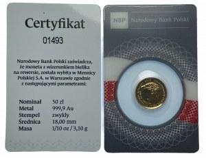 50 złotych 2020 - 100-lecie Odzyskania przez Polskę Niepodległości