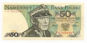 50 złotych 1986 - seria FA