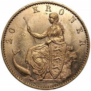 DANIA - Chrystian IX - 20 koron 1900 - Kopenhaga
