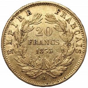 FRANCJA - 20 franków 1853 - Napoleon III - (A) Paryż