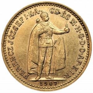WĘGRY - Franciszek Józef I - 10 koron 1907 - KB Kremnica