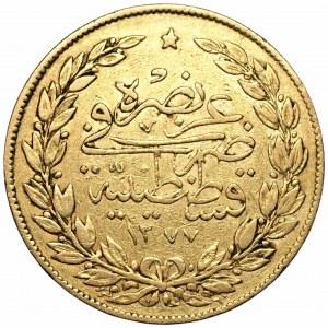 TURCJA - 100 Kurush AH 1277 (1861) Abdul Aziz