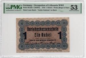 Poznań/Posen - 1 rubel 1916 dłuższa klauzula