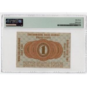 Poznań/Posen - 1 rubel 1916 dłuższa klauzula wystara - PMG 53