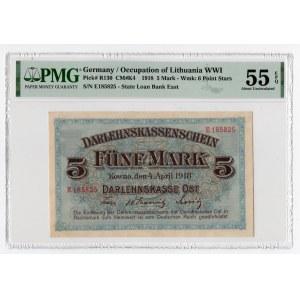 KOWNO - 5 marek 1918 - PMG 55 EPQ