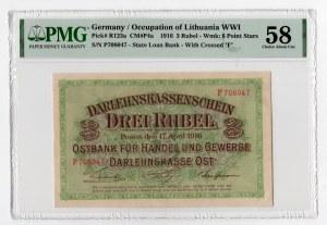 3 ruble 1916 - seria P - PMG 58