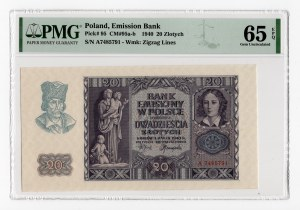 20 złotych 1940 - seria A - PMG 65 EPQ